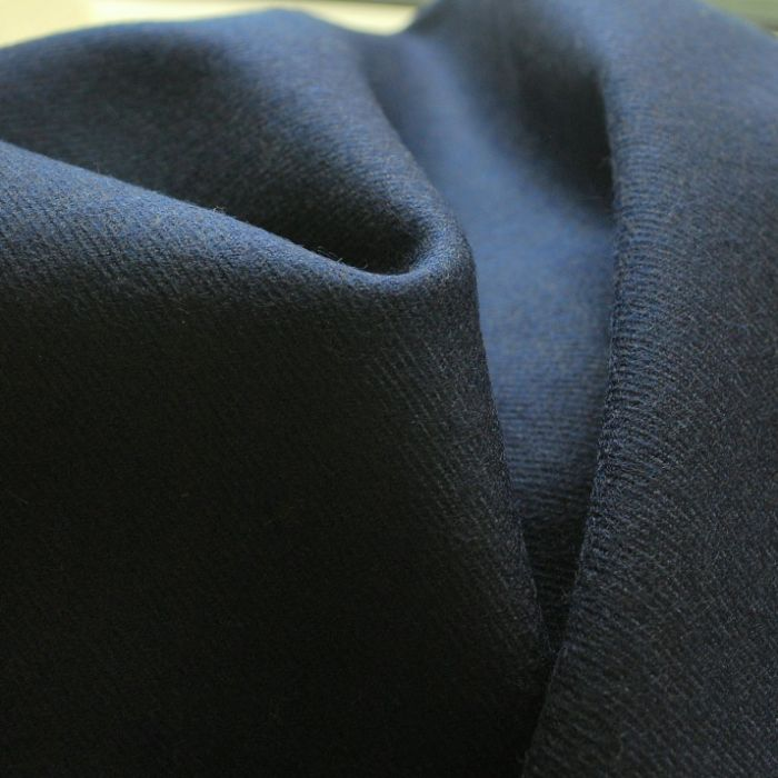 Melton Navy blue Wool suiting jacketing