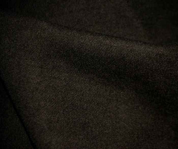 Moleskin cotton fabric Dark Brown