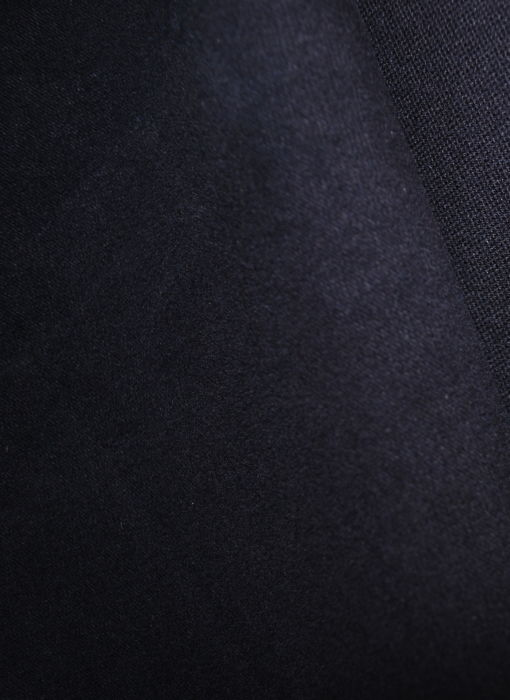 Moleskin cotton fabric Navy