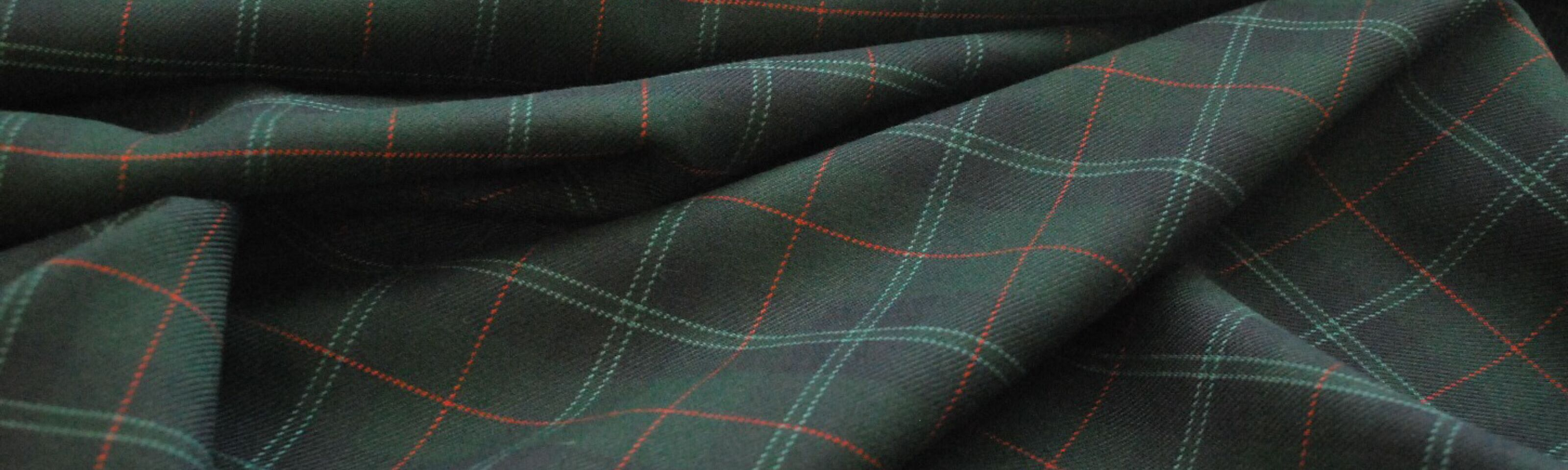 Utterley Buttery_Check poly wool suiting fabric