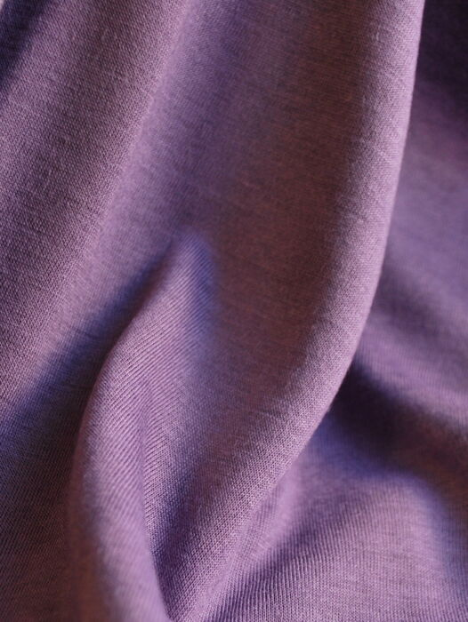 Viscose Jersey Dress Fabric Heather Close Up