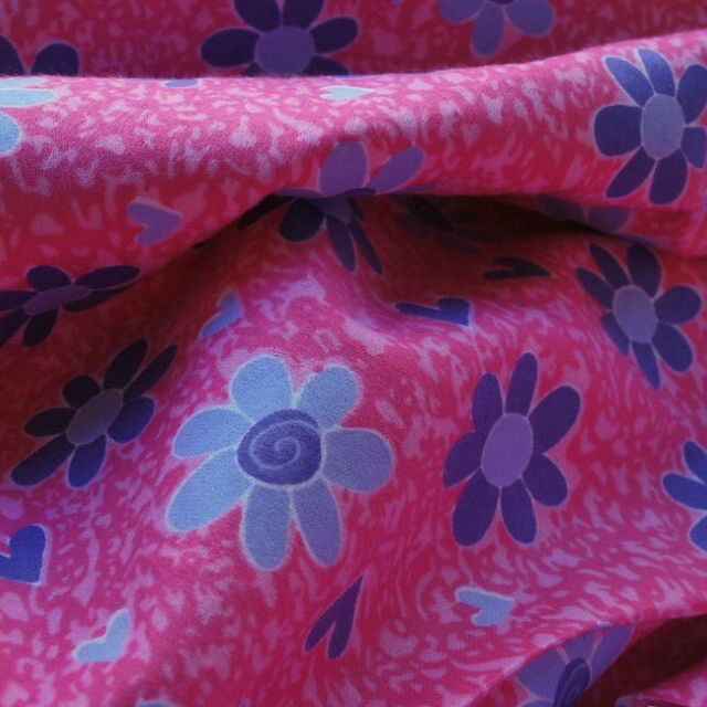 Incy wincey winceyette_cotton fabric_cerise