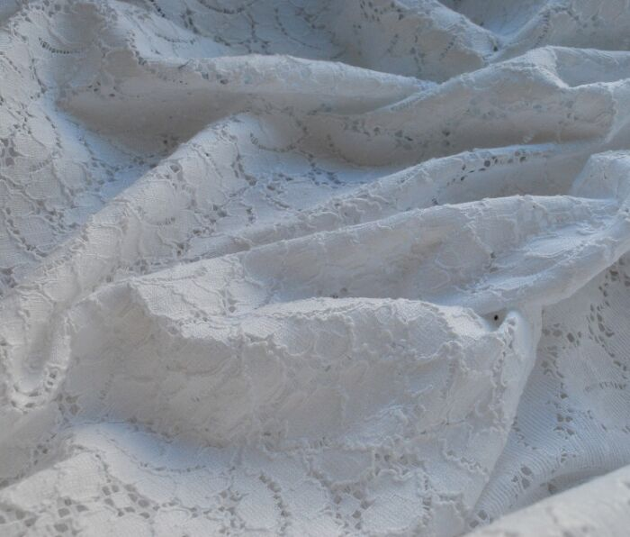 Lace Fabric white