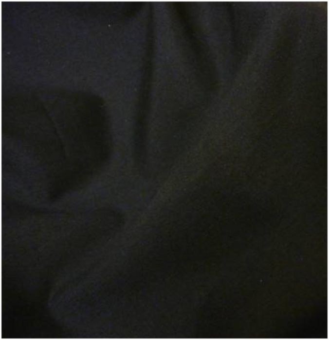 Black poly cotton fabric
