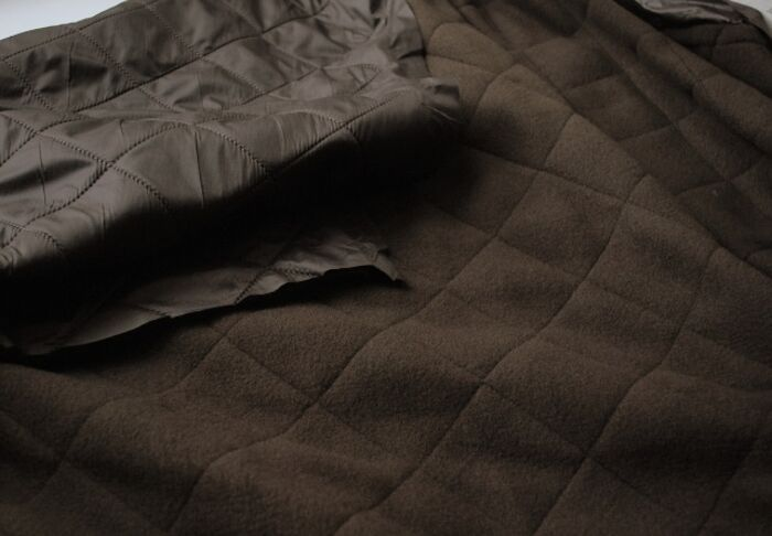 Quilted Coating Fabric Ex Barbour Brown