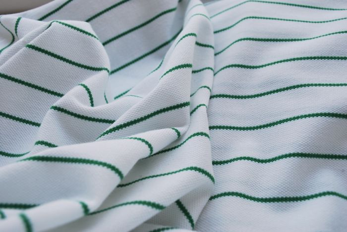Open Wide Cotton Pique fabric green