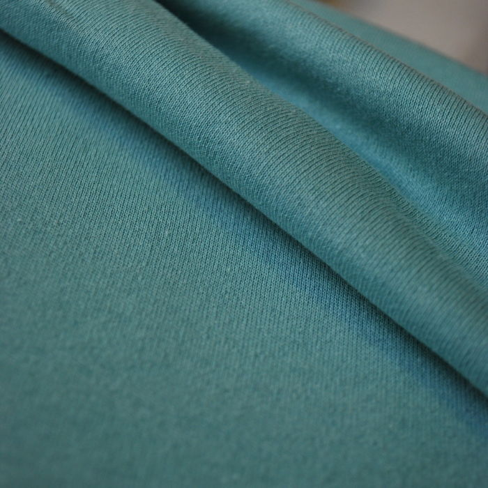 Aqua Cotton Jersey Fabric