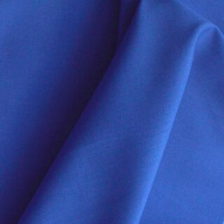 Photography of Superior Quality Plain Poly/Cotton - Royal Blue