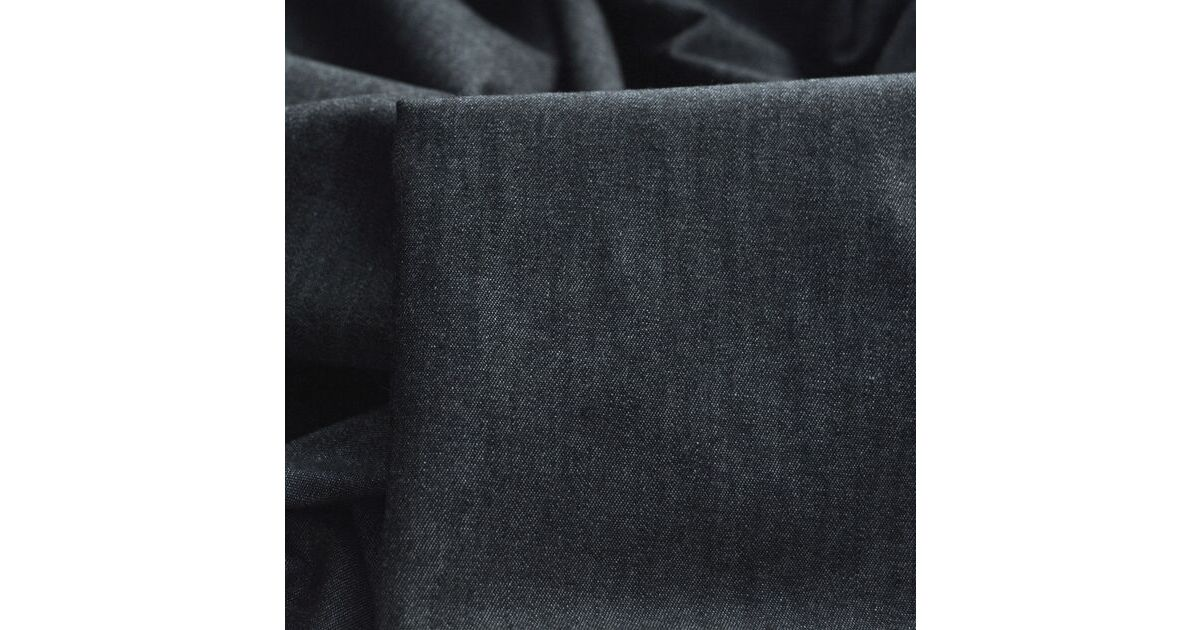 Photography of Set Piece - Denim - Washed Chambray – Chambray Black 1m