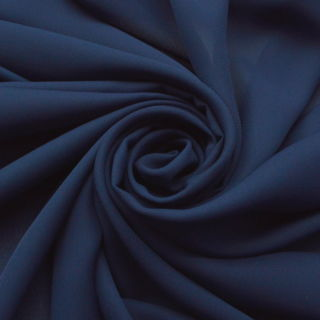 Photography of Georgette Dress Fabric - French Navy