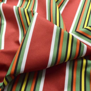 Photography of Water Resistant Canvas - Multi Stripe - Green/Red