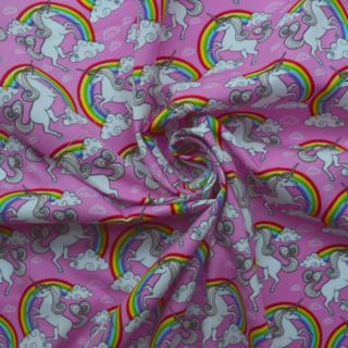 Photography of Poplin Prints - Rainbow Bright- Pink