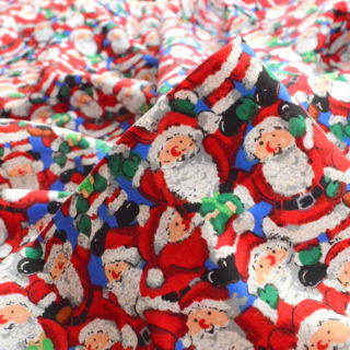 Photography of Christmas Cotton - Glitter Santa- Blue
