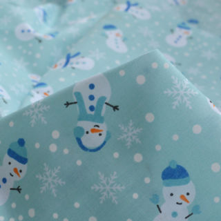 Photography of Christmas Poly/Cotton - Lonely Snowman - Ice