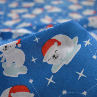 Photography of Christmas Poly/Cotton - Polar Bear Party