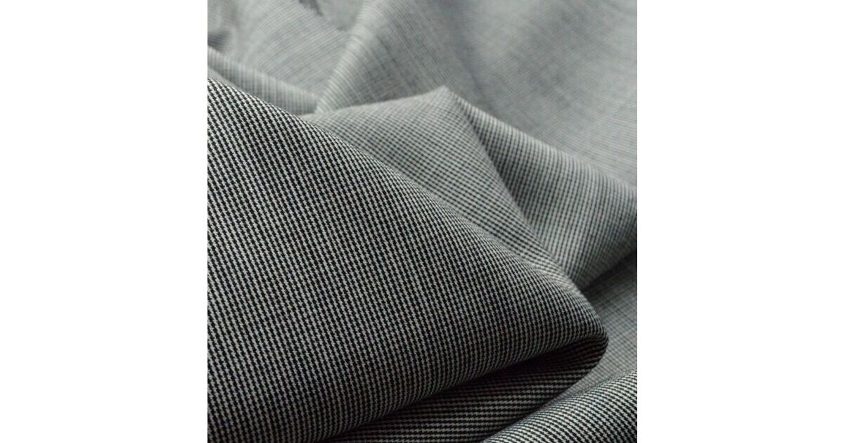 Italian Worsted Wool Light Weight Suiting In The Tiniest