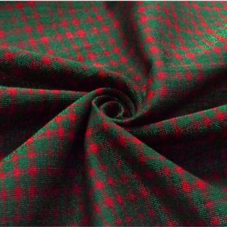 Photography of Cotton Lurex - Tartan - Green