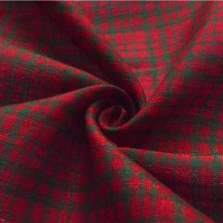 Photography of Cotton Lurex - Tartan - Red