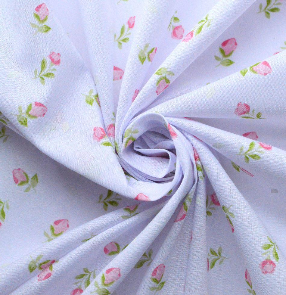 112 cm Wide 4 Colours Printed Polycotton Fabrics Rose collection Print Design
