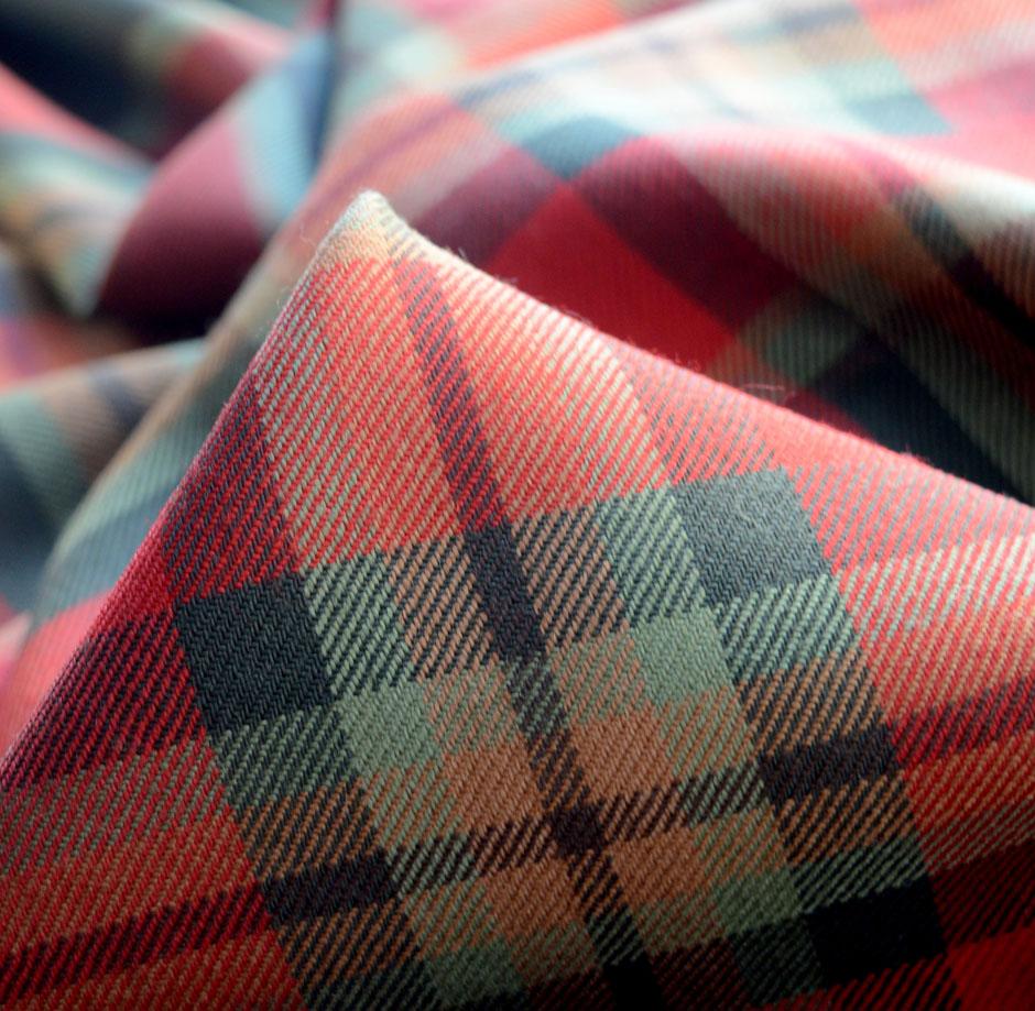 *New*M//Weight Woven Poly Viscose Check Tartan Print Dress//Craft Fabric*FREE P/&P*