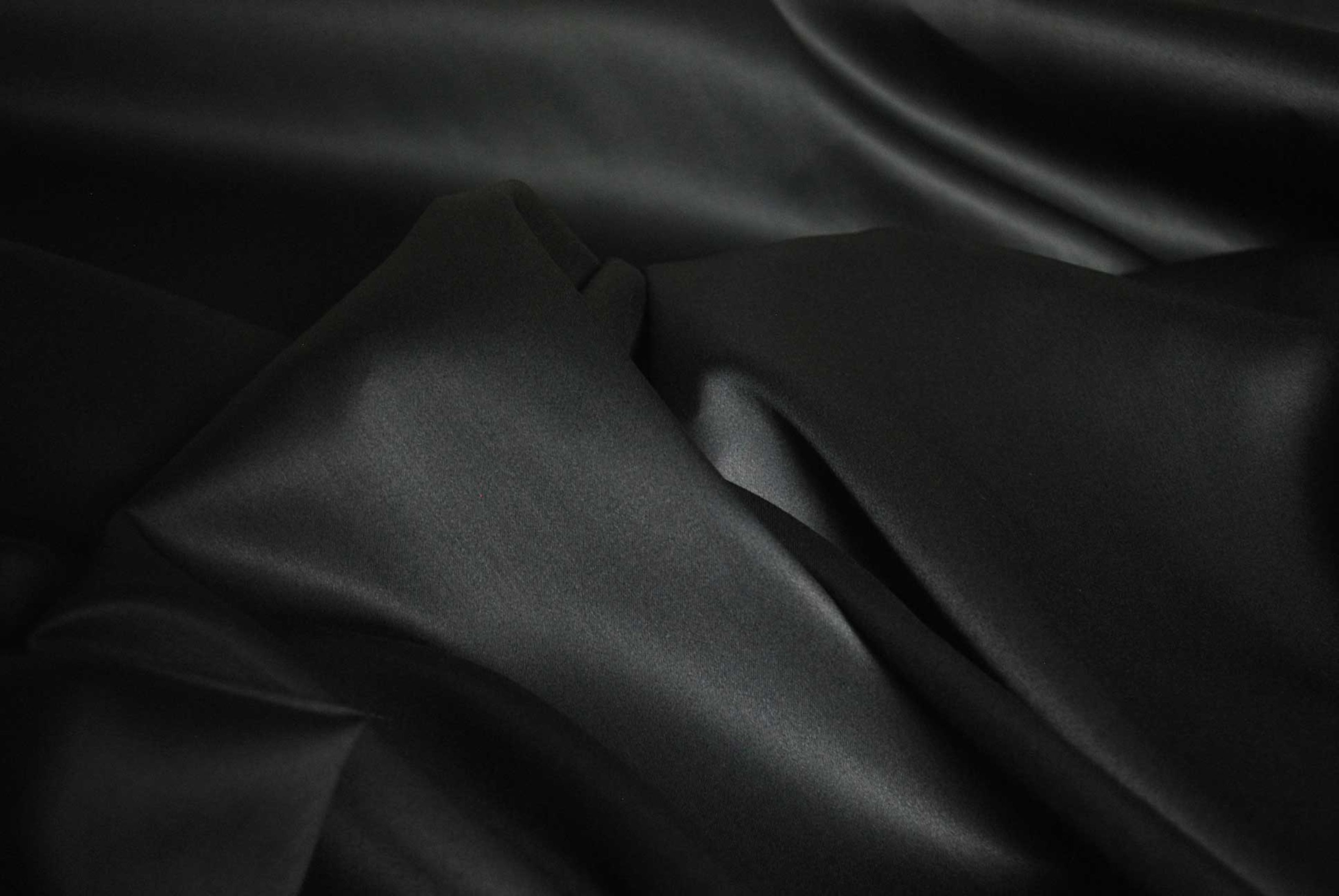 Black Stretch Dress Satin Fabric Carrington Bridal